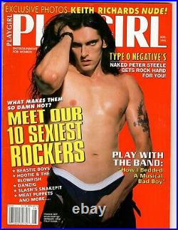 PETER STEELE Type O Negative PLAYGIRL August 1995 Rolling Stones KEITH RICHARDS
