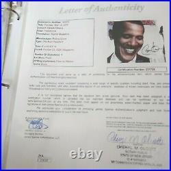 PRESIDENT BARACK OBAMA SIGNED ROLLING STONE MAGAZINE WithJSA AUTHENTICATION
