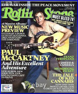 Paul McCartney Authentic Signed 2005 Rolling Stone Magazine PSA/DNA #Z03852