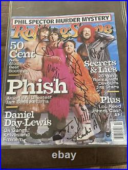 Phish Signed Rolling Stone Magazine One Of Two In The World Story Inside
