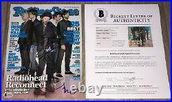 RADIOHEAD SIGNED ROLLING STONE MAG THOM YORKE +4 withEXACT PROOF & BECKETT BAS LOA