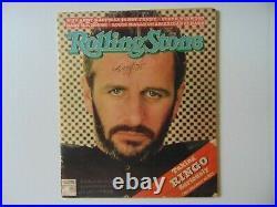 RARE! The Beatles Ringo Starr Signed Rolling Stone Magazine Dated 1981 COA