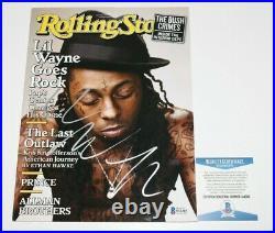 Rapper LIL Wayne Signed Rolling Stone Magazine Ymcmb Weezy Beckett Coa Carter IV