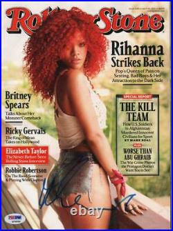 Rihanna Signed Autographed Rolling Stone Magazine Full Original PSA DNA