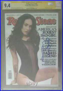 Rolling Stone #1088 Megan Fox cover CGC 9.4 SS Signed by Megan Fox