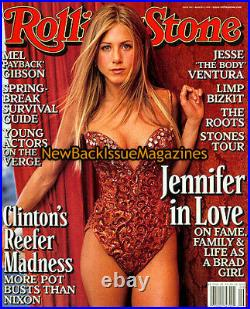 Rolling Stone 3/99, Jennifer Aniston, The Roots, Mel Gibson, March 1999, RARE, NEW