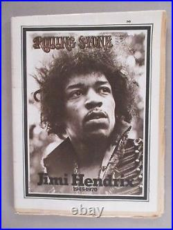 Rolling Stone #68 October 15, 1970 death of Jimi Hendrix nice condition