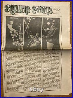 Rolling Stone Magazine #4 Jan. 20, 1968 Jimi Hendrix, Donovan, Otis Redding