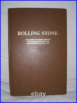 Rolling Stone Magazine Bound Book Issues Volume 10 (1973) Issues #136-141