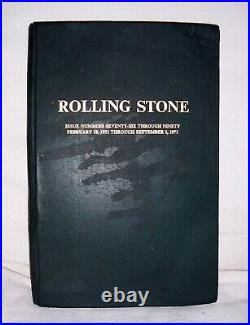 Rolling Stone Magazine Bound Book Issues Volume 6 (1971) Issues #76-90