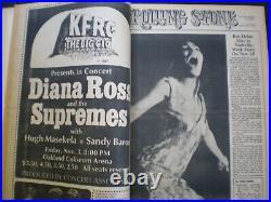 Rolling Stone Magazine Bound Volume # 1 Issue #'s 1- 15 11-9 67 to 8-10 68