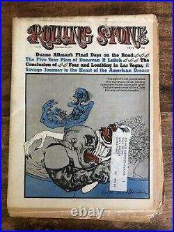 Rolling Stone Magazine No 95 & 96 Fear And Loathing In Las Vegas Hunter Thompson