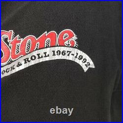 Rolling Stone Magazine T Shirt Vintage 90s 1992 25 Years Made In USA Size Large