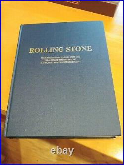 Rolling Stone leather bound Issue Numbers 161 Through 170 5-23-74 Through