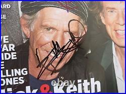 Rolling Stones Signed Rolling Stone Magazine Coa Proof! Keith Richards Ron Wood