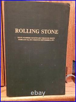 Rolling stone magazine bound Issue #'s 76 90. Feb. 18, 1971 Sept. 2, 1971