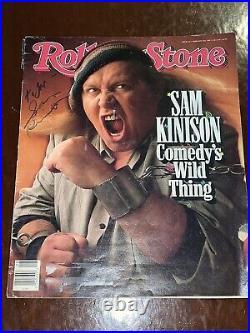 Sam Kinison signed Rolling Stone Magazine autographed JSA LOA