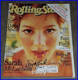 Sarah Mclachlan Signed Rolling Stone Magazine Issue #785 April 30, 1998