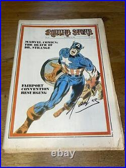 Stan Lee Signed Vintage Rolling Stone No. 44 18 October 1969 Captain America