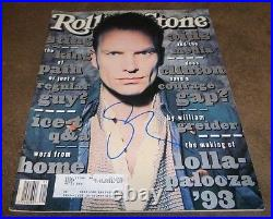 Sting Signed Rolling Stone Magazine Issue #657 May 27, 1993 The Police Autograph