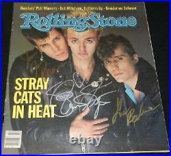 Stray Cats Brian Setzer Signed Autograph Rolling Stone Magazine Rare