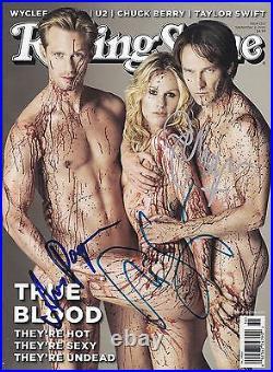 TRUE BLOOD Signed CAST Rolling Stone Magazine with Hologram COA RARE