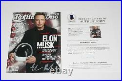 Tesla Spacex Founder Elon Musk Signed Nl Rolling Stone Magazine Beckett Coa Doge