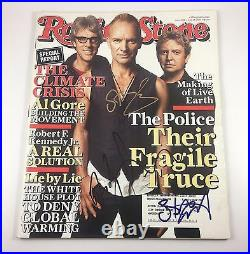The Police Sting Rolling Stone Magazine Signed Autographed June 2007 PROOF