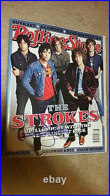 The Strokes Julian Casablancas Rolling Stone Magazine Mag Signed Autograph #b