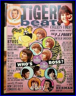 Tiger Beat Teen Magazine SECOND ISSUE October 1965 Rolling Stones Byrds Beatles