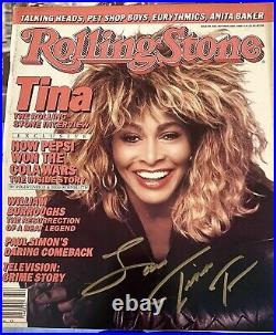 Tina Turner SIGNED Autographed Rollingstone Magazine Sexy Rock And Roll