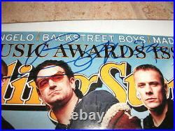 U2 Bono Signed Autographed Rolling Stone Magazine Cover Photo F8