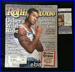 Usher Signed Rolling Stone Magazine JSA Authenticated
