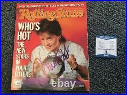 W@W Michael J. Fox Signed Rolling Stone Magazine Autographed Auto BAS not PSA